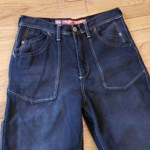 e4b2dcfba8 Pepe Jeans Jeans - Vintage Pepe Jeans Black Denim 90s Hip Hop Fashion